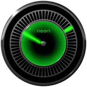 NEON GREEN Laser Clock Widget.apk 2.50
