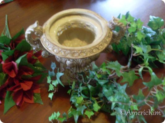 Christmas Silk Flower Arrangement