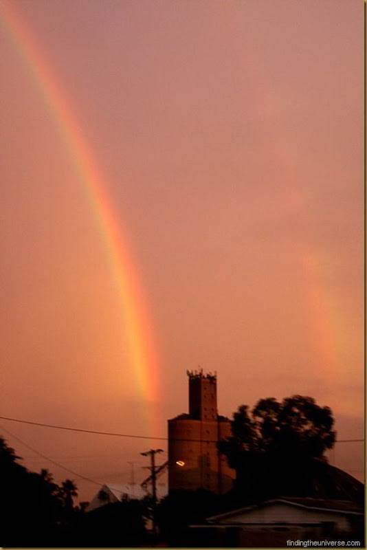 Double rainbow at sunset in Australia
