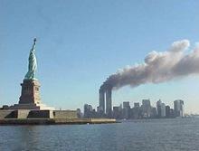 إحتراق برجي مركز التجارة العالمي