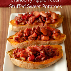 Cranberry Apple Pecan Stuffed Sweet Potatoes