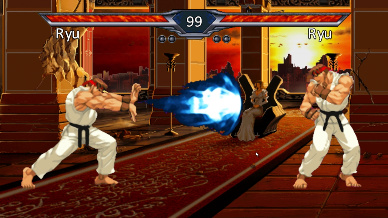 Ryu performs the Hadouken