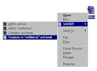 winrar sending mail