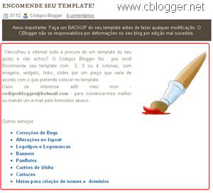 Aumentando área de postagem no blogger
