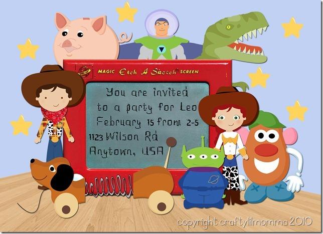 toy story 2 invite