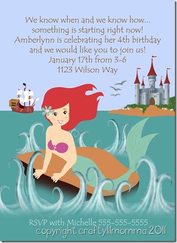 little mermaid invite 2