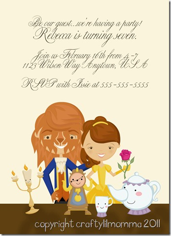 beauty and the beast wedding invitations is great invitations layout - Beauty And The Beast Wedding Invitations