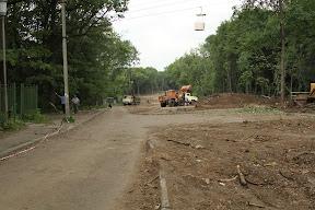 земляные работы со стороны Новгородской