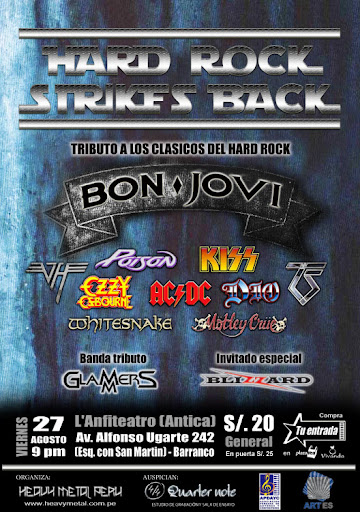 Tributo al Hard Rock en Lima