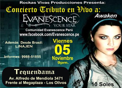 Tributo Evanescence en Lima