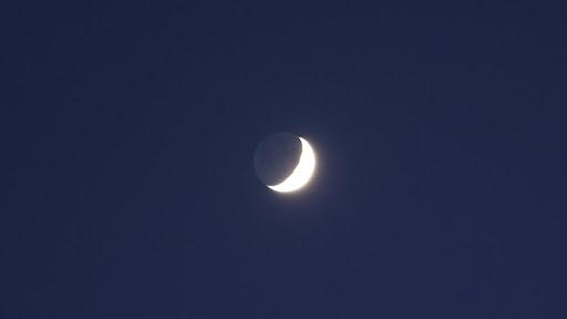 foto luce cinerea luna