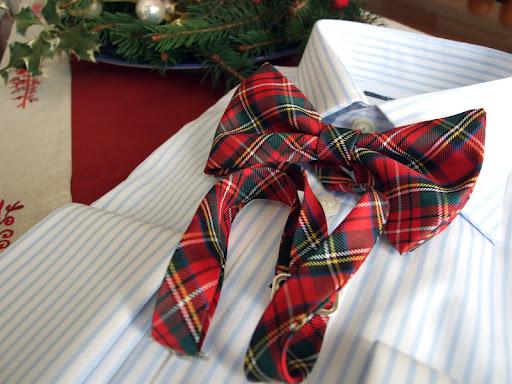 papillon tartan scozzese camicia gemelli