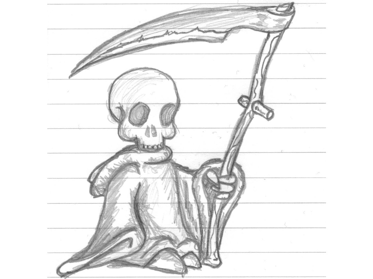 Cool grim reaper pencil drawings easy sketch coloring page for Cool drawings to draw in pencil