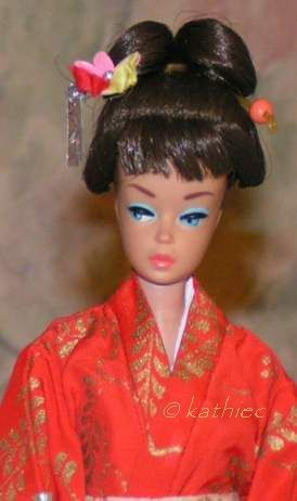 Barbie Fashion Queen Wig Wardrobe Midge Barbie in Japan 1960s Mattel dolls