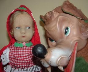 Lenci felt doll Little Red Riding Hood wolf