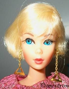 Barbie Hair Fair doll Golden Groove Sears Exclusive original earrings 1960s Mattel
