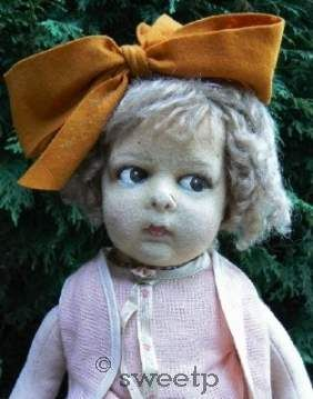 Lenci 110 series felt doll 1920s