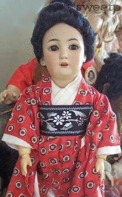 Antique bisque doll Simon & Halbig S & H Asian