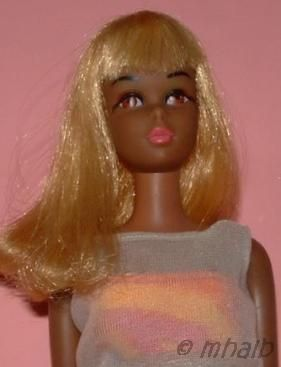 Black Francie Barbie doll Mattel African-American 1960s oxidized hair