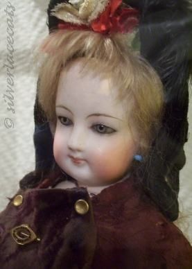 Antique bisque doll Jumeau French Fashion 1870s