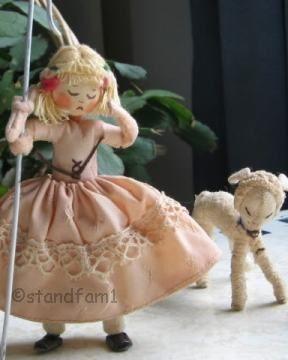 Baps doll Edith von Arps German Germany Little Bo Peep sheep 1940s 1950s