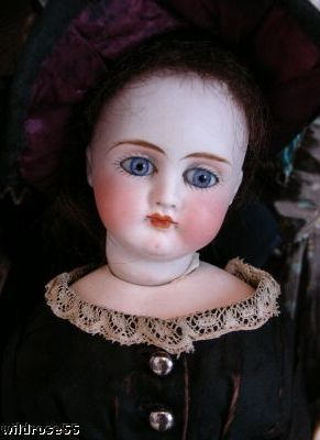 Antique bisque swivel head doll German Sonneberg French Fashion paperweight eyes