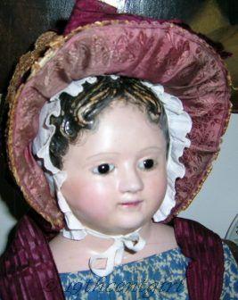 Andreas Voit antique papier-mâché doll 1830s 1850s