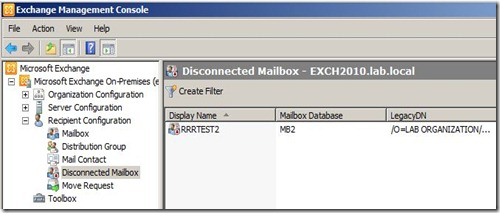 Disconnected-EMC-mailbox
