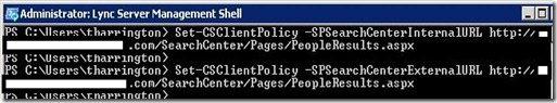 Lync SS - peopleresults url = markup