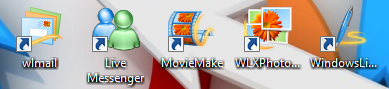Windows live mail, photo, messenger, movie maker,writer
