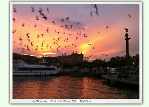 Posta de Sol a Barcelona