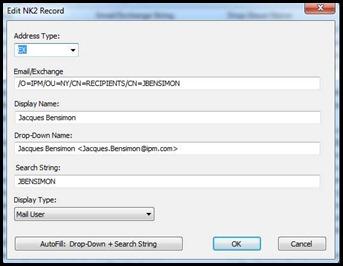 NK2Edit – Edit your Outlook NickName file.