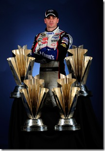 2009 NSCS Jimmie Johnson championship four trophies