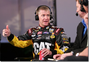 2010 NASCAR Media Day Jeff Burton live broadcast