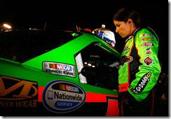 2010 Charlotte Oct NNS Danica Patrick by car
