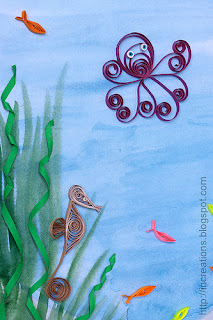 Quilled octopus and seahorse