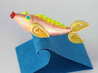 Fish. 3D quilling