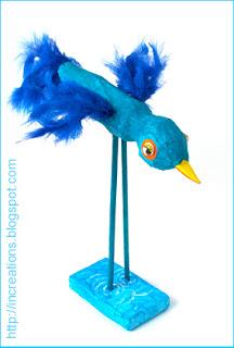 Papier Mache Bird