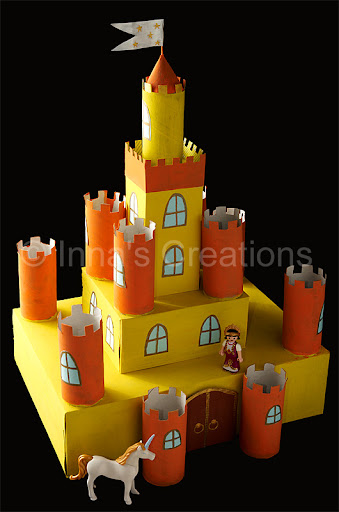 ... build a castle with children once i already made a small cardboard toy
