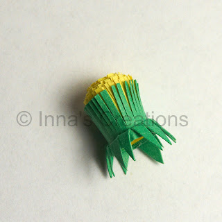 Quilled dandelion, step 3