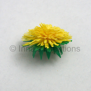 Quilled dandelion, step 4