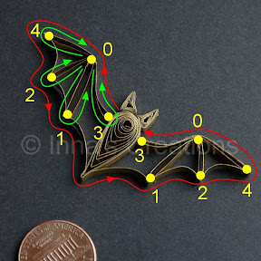 Quilling bat pattern