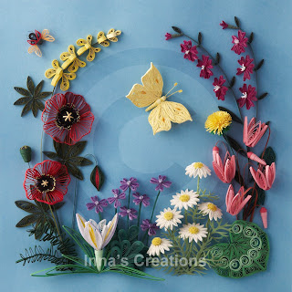 Flowers of Israel, paper quilling