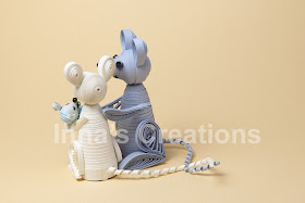 Quilled mice, back view