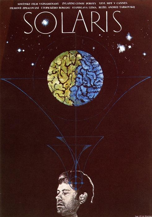 Afiche de Solaris dirigida por Andrei Tarkovsky