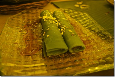 Pandanus Crepe with Coconut