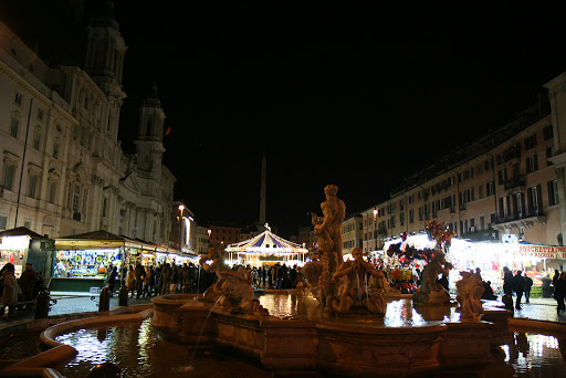 Piazza Navona near Christmas is one big fair ground