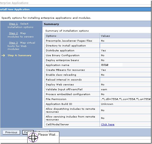 install-ear-ibm-rad-admin-console-finish