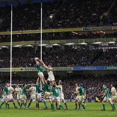 Ireland v England - lineout