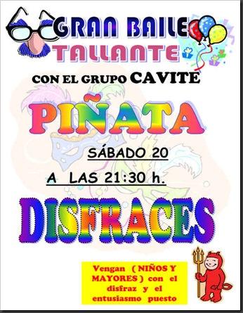 Gran Baile de Piñata por Carnaval en Tallante 2010